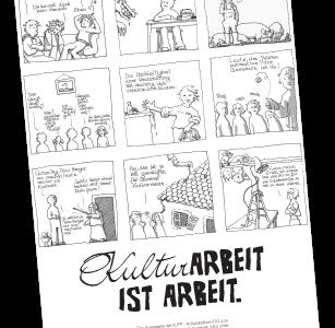 Plakat Kulturarbeit ist Arbeit