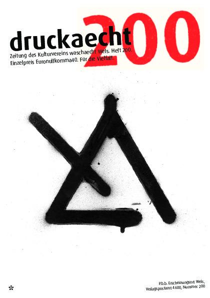 Zeitungscover Druckaecht Nummer 200