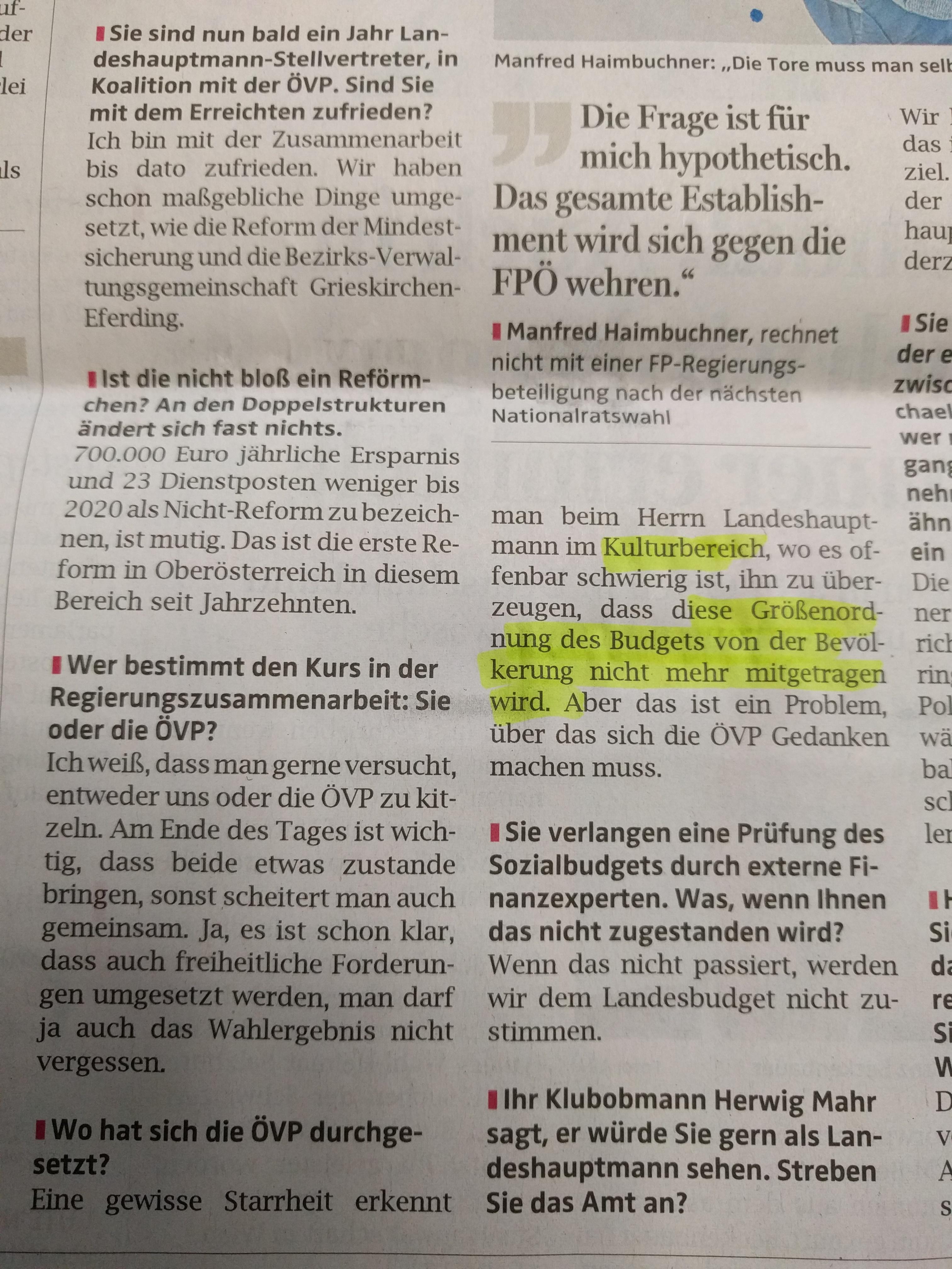 Haimbuchner Interview OÖN