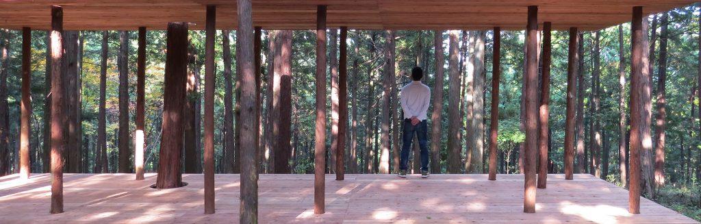 hinoki + sugi pavilion Oawa mountain, Kamiyama, Japan