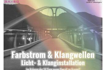Plakat zum Licht und Klanginstallation