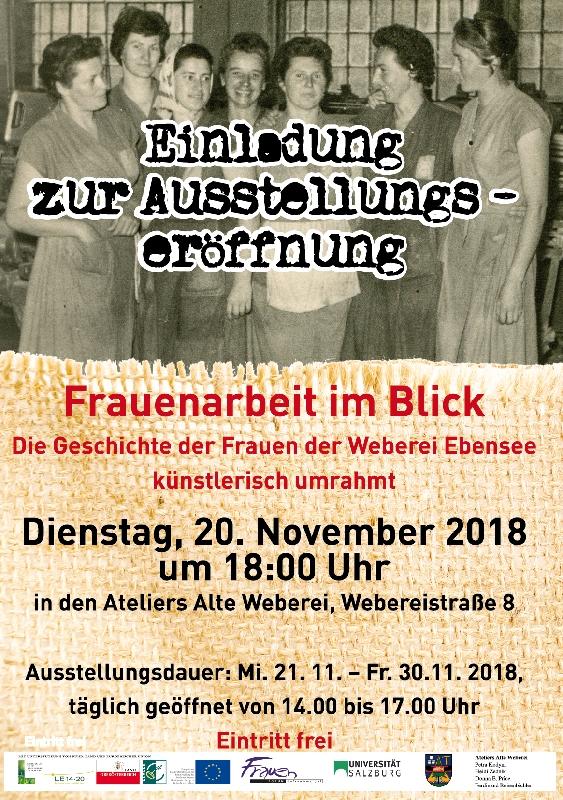 Plakat der Ausstellungseröffnung