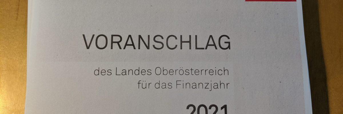 Land OOE Voranschlag 2021 Foto Cover