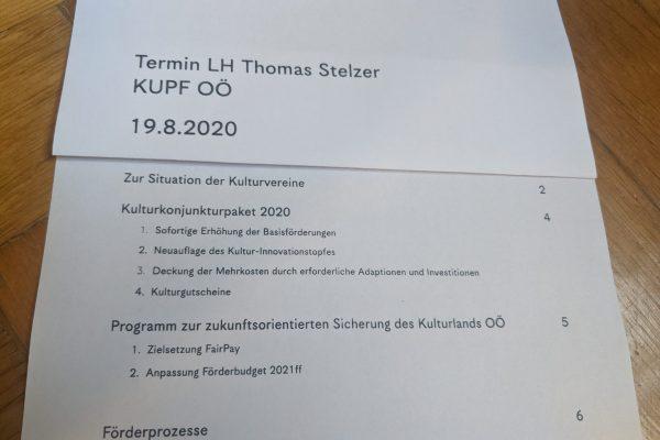 Termin August 2020 KUPF LH Stelzer Tischvorlage Cover
