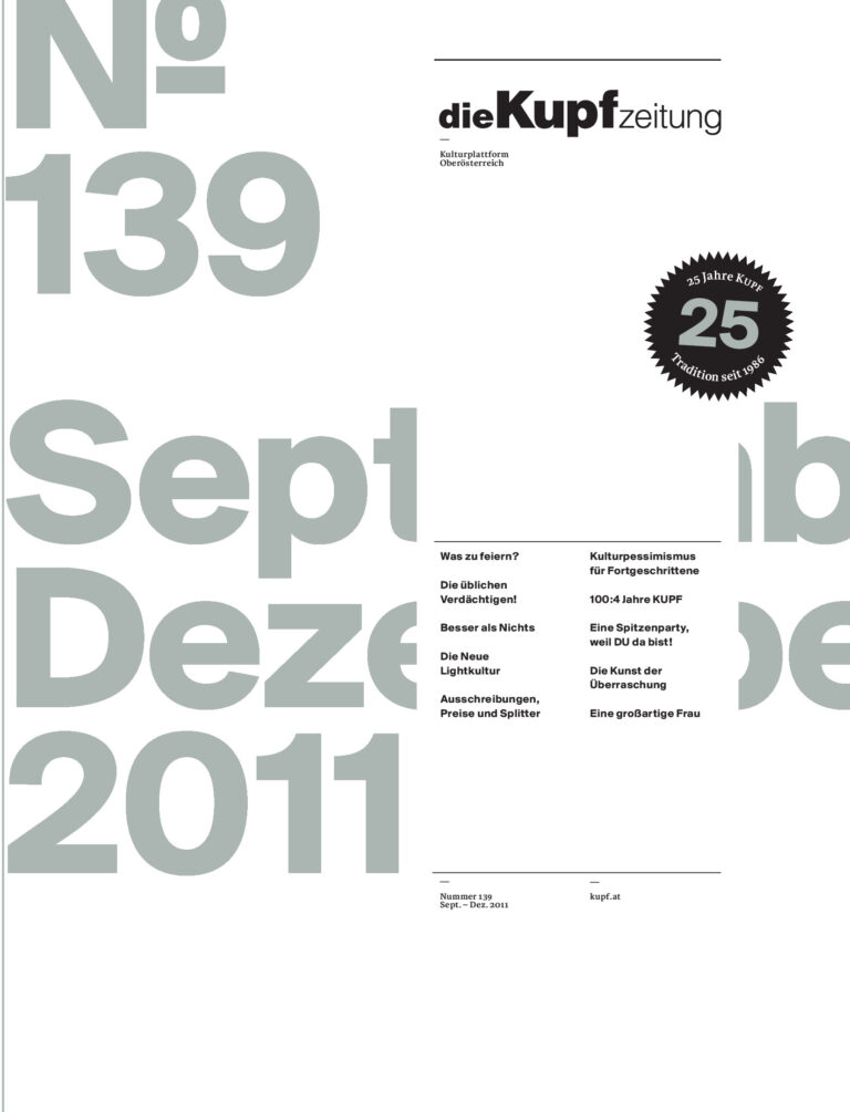 Cover KUPFzeitung #139/2011