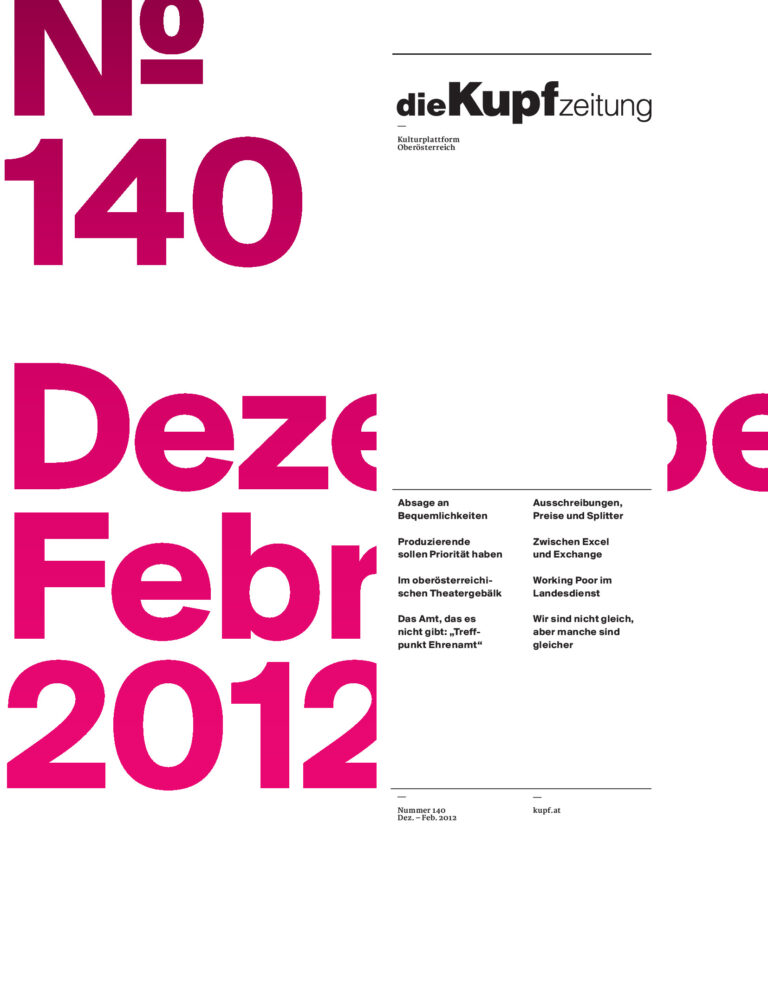 Cover KUPFzeitung #140/2011