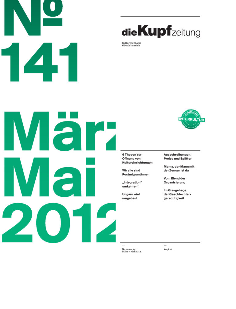 Cover KUPFzeitung #141/2012